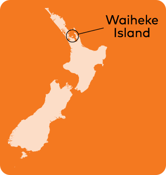 Waiheke bean location.